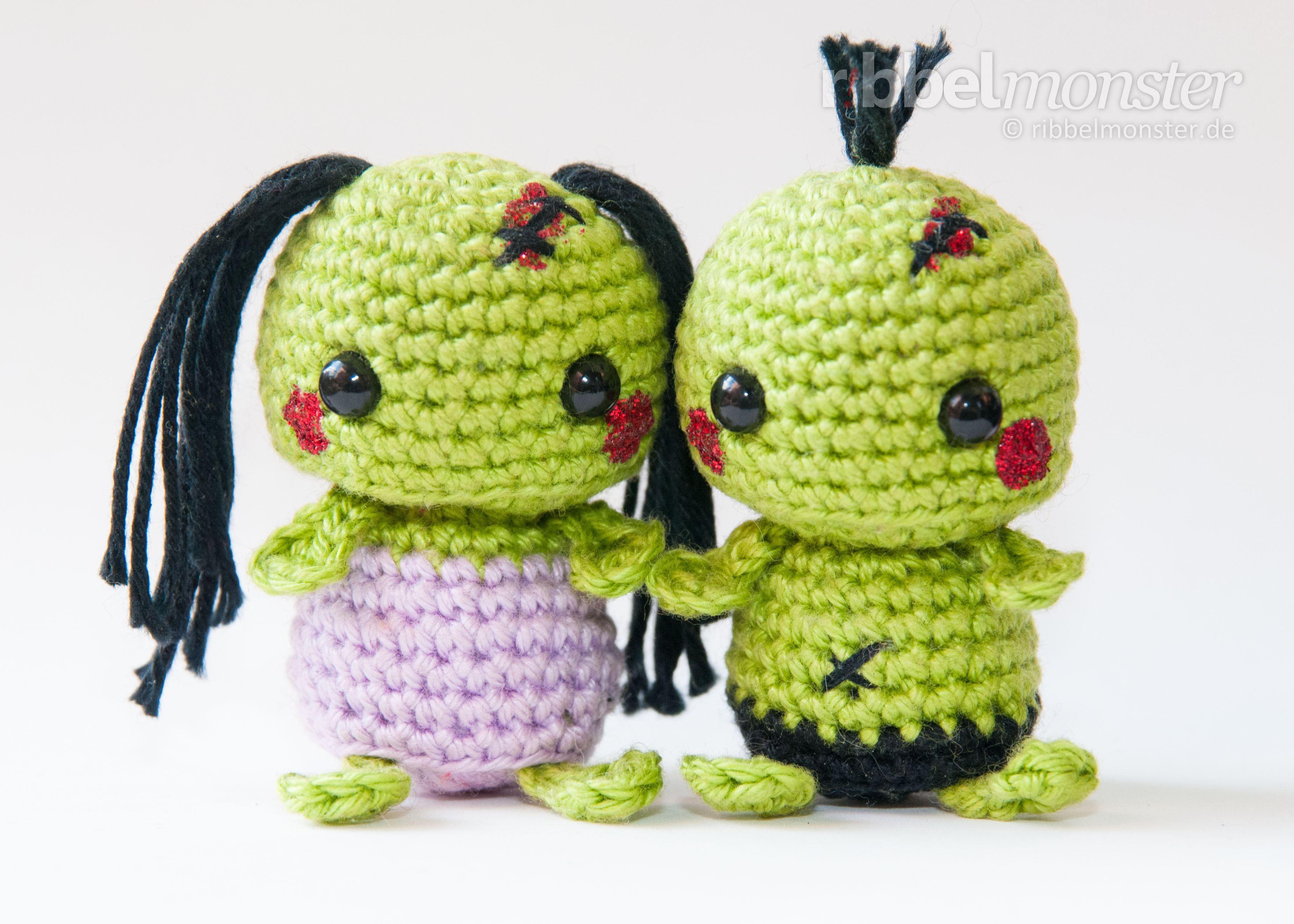 Amigurumi - Minimee Zombies häkeln - kostenlose Häkelanleitung ...