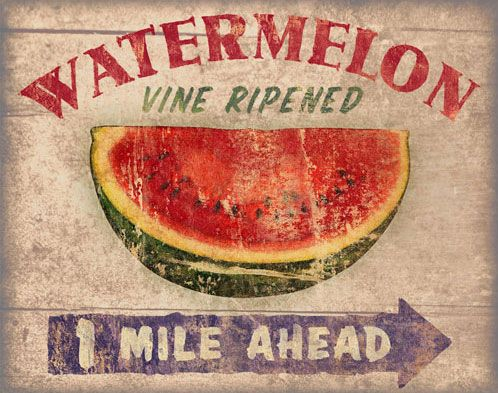 Image result for watermelon ahead sign