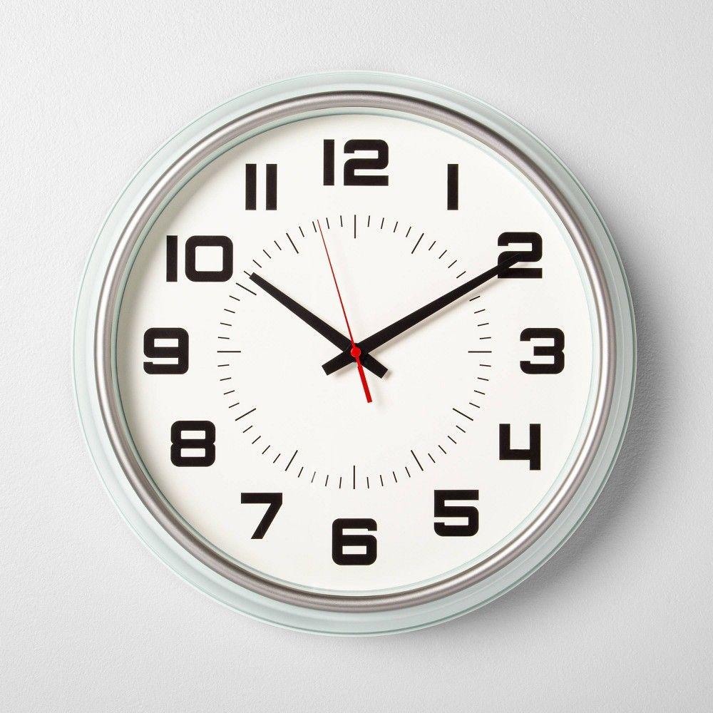 16 Clock Silver Green Hearth Hand With Magnolia In 2020 Clock Wall Clock Project White Clocks