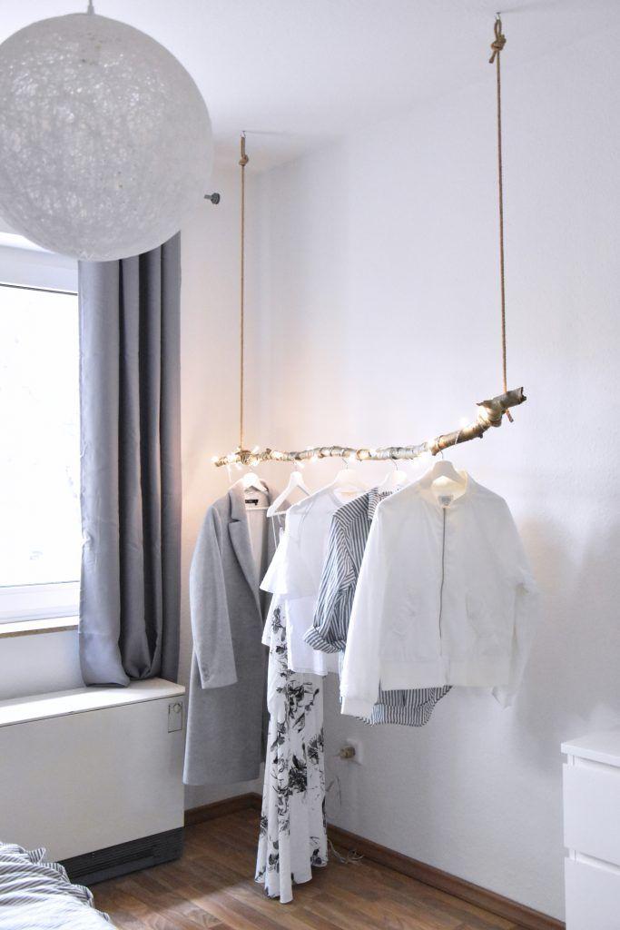 Das Waldschlafzimmer (Ast-Kleiderstange DIY #zuhausediy