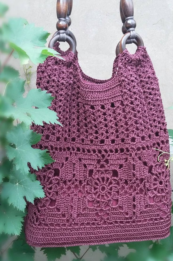 Crochet bag; 33 Free New Idea For Mesh Bag With Descriptions And Patterns 2019 - Page 4 of 33 - clear crochet