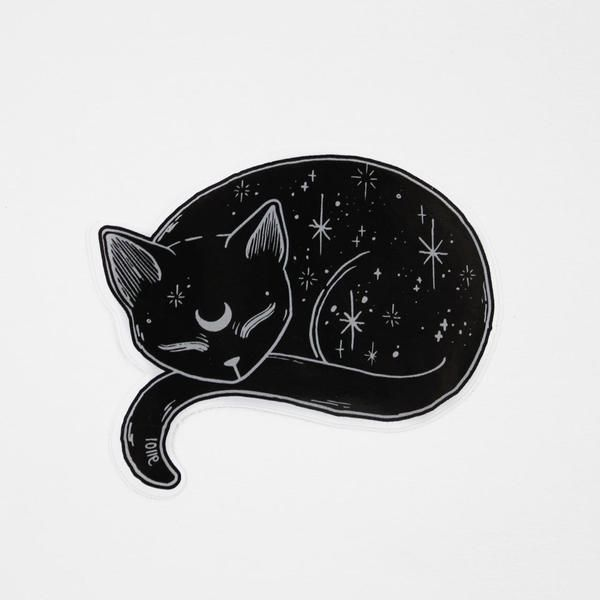 Mystical Black Cat Vinyl Sticker Cats Pinterest Cat Lovers - Vinyl decal cat pinterest