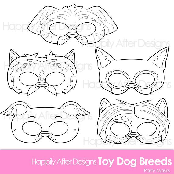 Toy Dog Breed Printable Coloring Masks Chihuahua Mask
