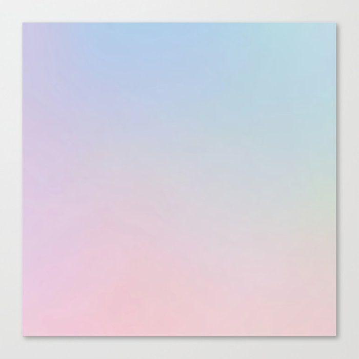 Pastel Gradient Canvas Print by Pastelae - MEDIUM