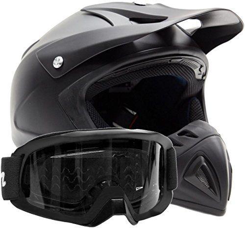 Adult Offroad Helmet Goggles Gear Combo Dot Motocross Atv Dirt