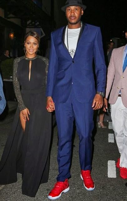 best service 677cc 71baf Celeb Sneaker Game  Carmelo Anthony Wearing His Air Jordan 11 Red PE .