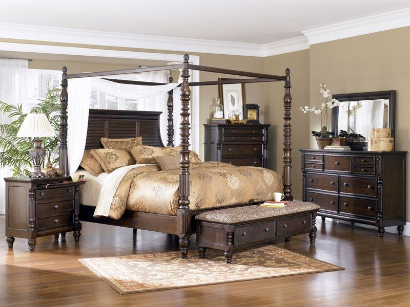 229999 ashley millennium key town california king canopy bedroom suite all sets include california king poster