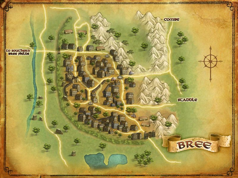 LOTRO map of Bree | Lord of the Rings Online in 2019 | Middle