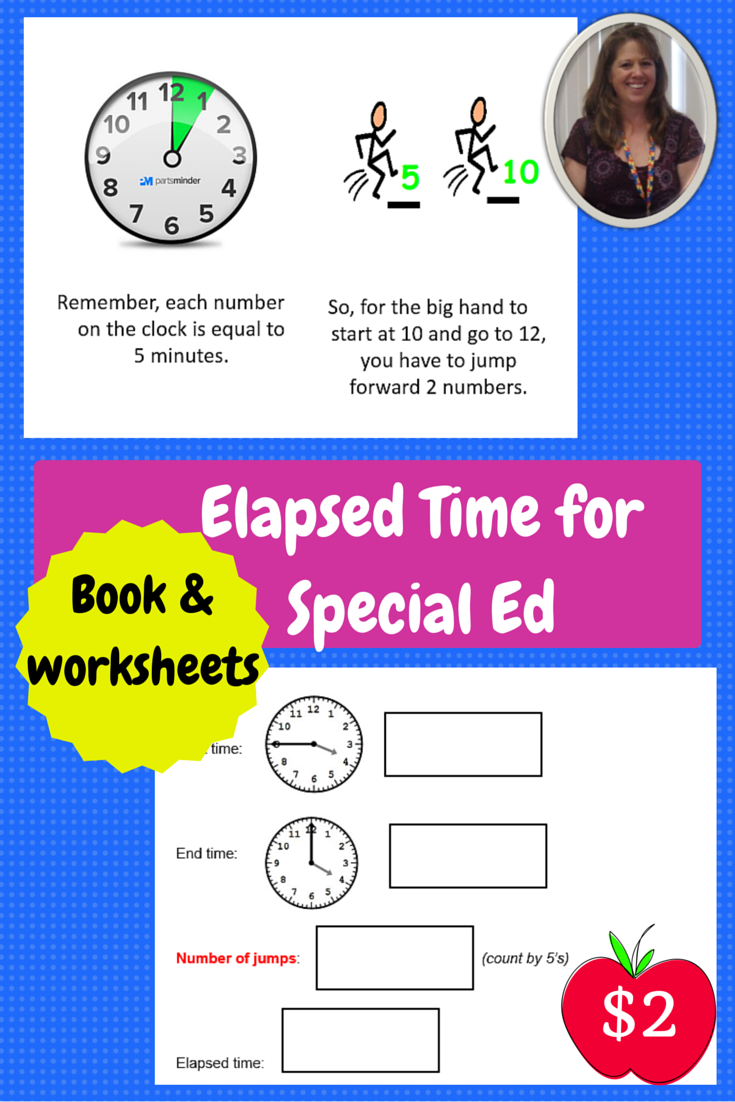 Worksheets Worksheets For Special Education Students elapsed time booklet and practice worksheets special education for this is a 10 page