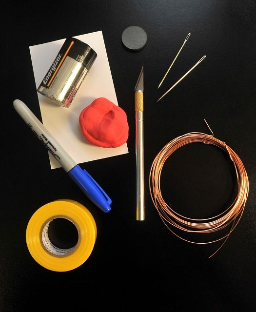 simple electric motor materials