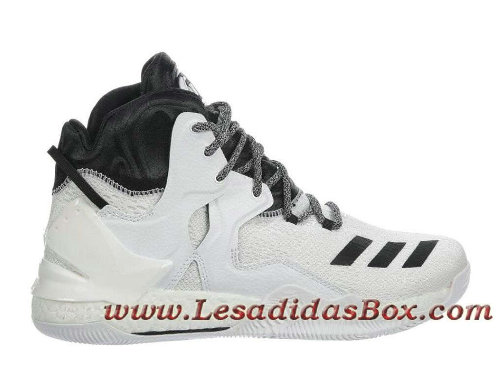 the latest e0ef2 1ee4a Adidas Homme Basketball Chaussure D Rose 7 White Black B54137 Adidas Site  CouleurBlancNOirBlanc (B54137)