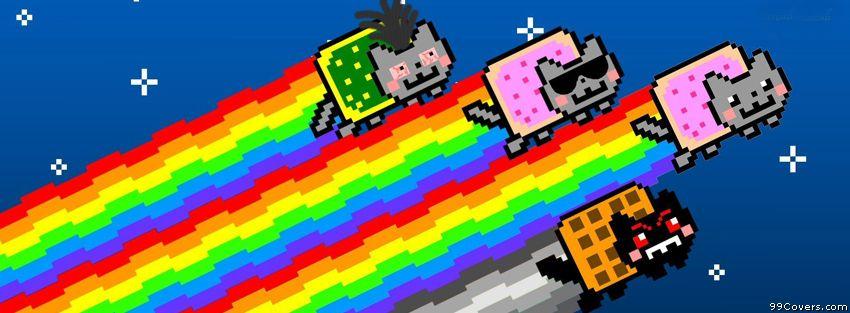 Nyan Cats 6 Facebook Covers Facebook Covers Nyan Cat Cats Cat