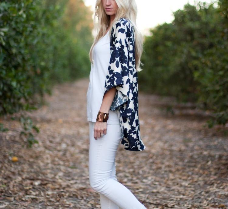 Veste kimono femme id e diy tr s facile r aliser - Bricolage facile a realiser ...