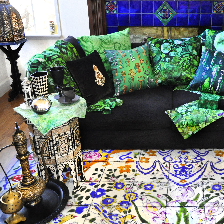 Emerald green interior design by paradis maison emerald green