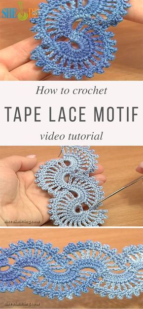 Useful Tape Lace Crochet Motif | CrochetBeja