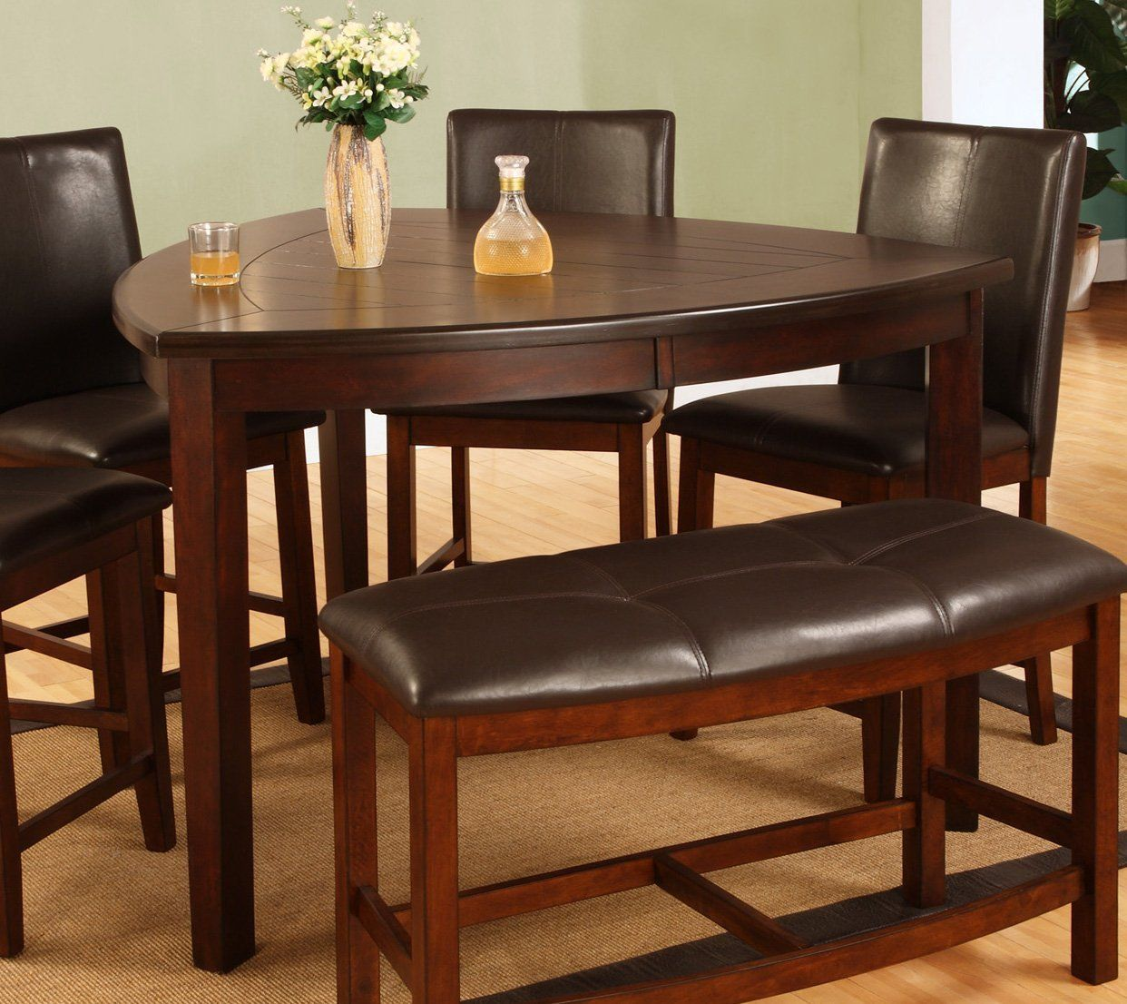 Amazon Com Best Quality Furniture D876t Modern Triangle Dining