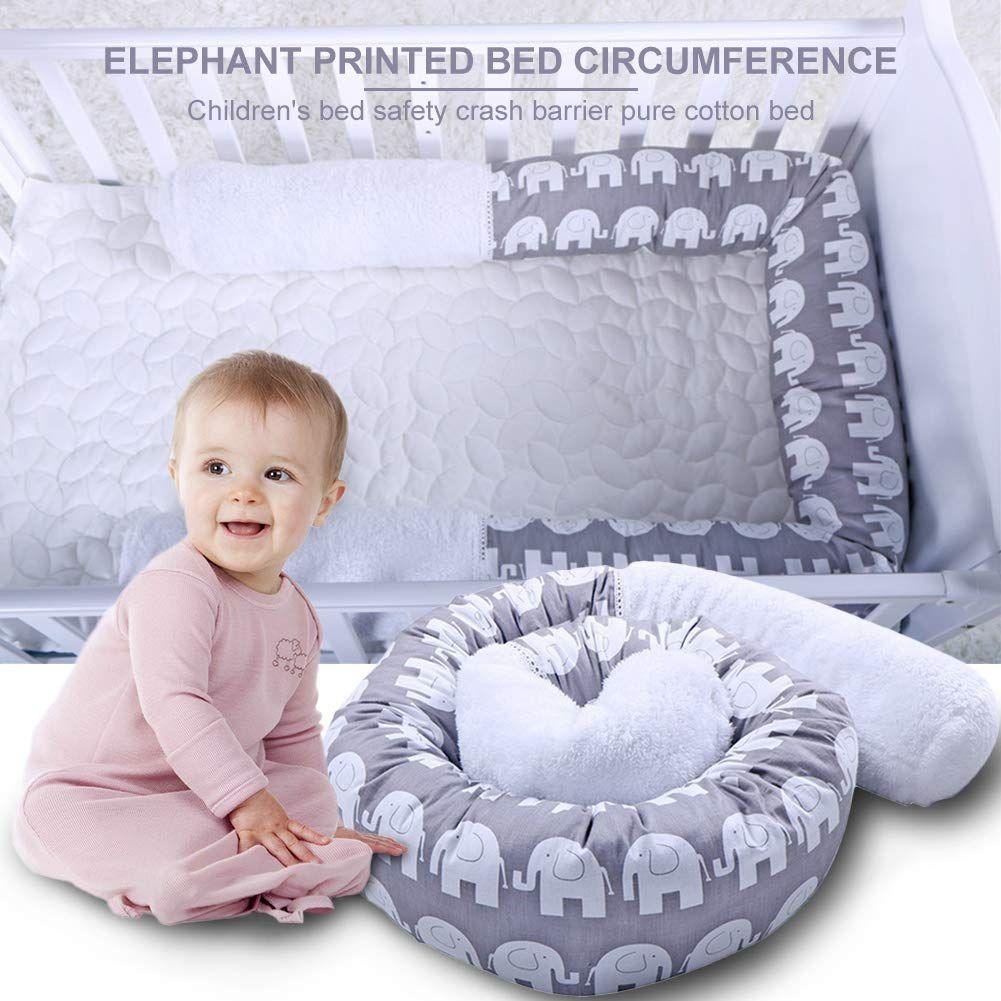 Crib Bumper Snake Pillow Protective, Decorative Long Baby