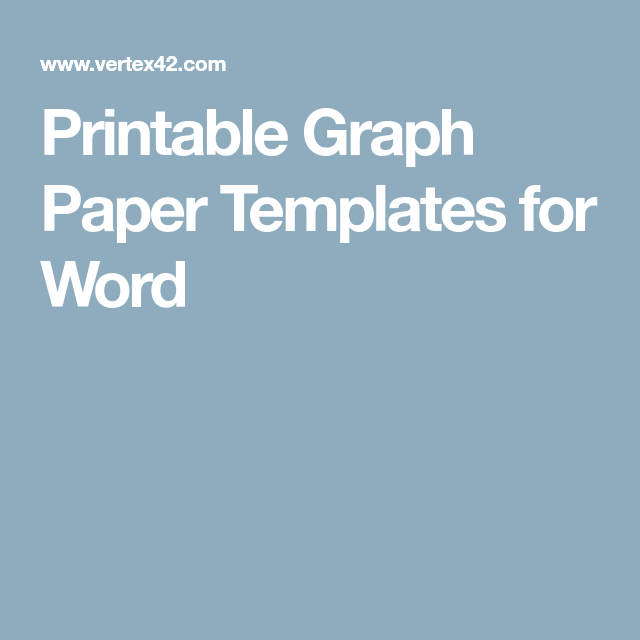 Math Grid Paper Template Printable Graph Paper Templates For Word  Math  Pinterest  Graph .