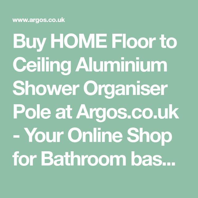 Buy Home Floor To Ceiling Aluminium Shower Organiser Pole At
