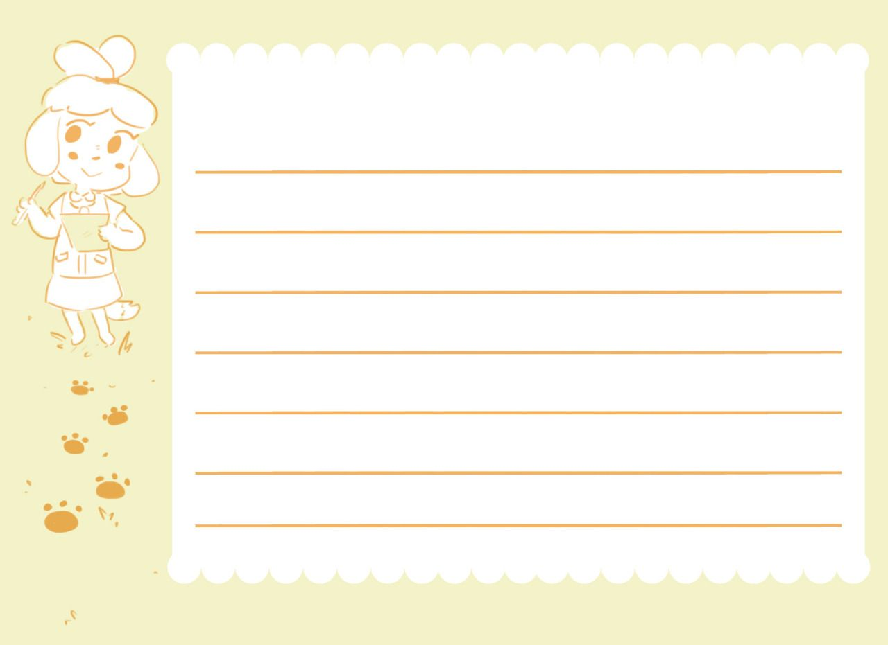10++ Animal crossing letter template ideas