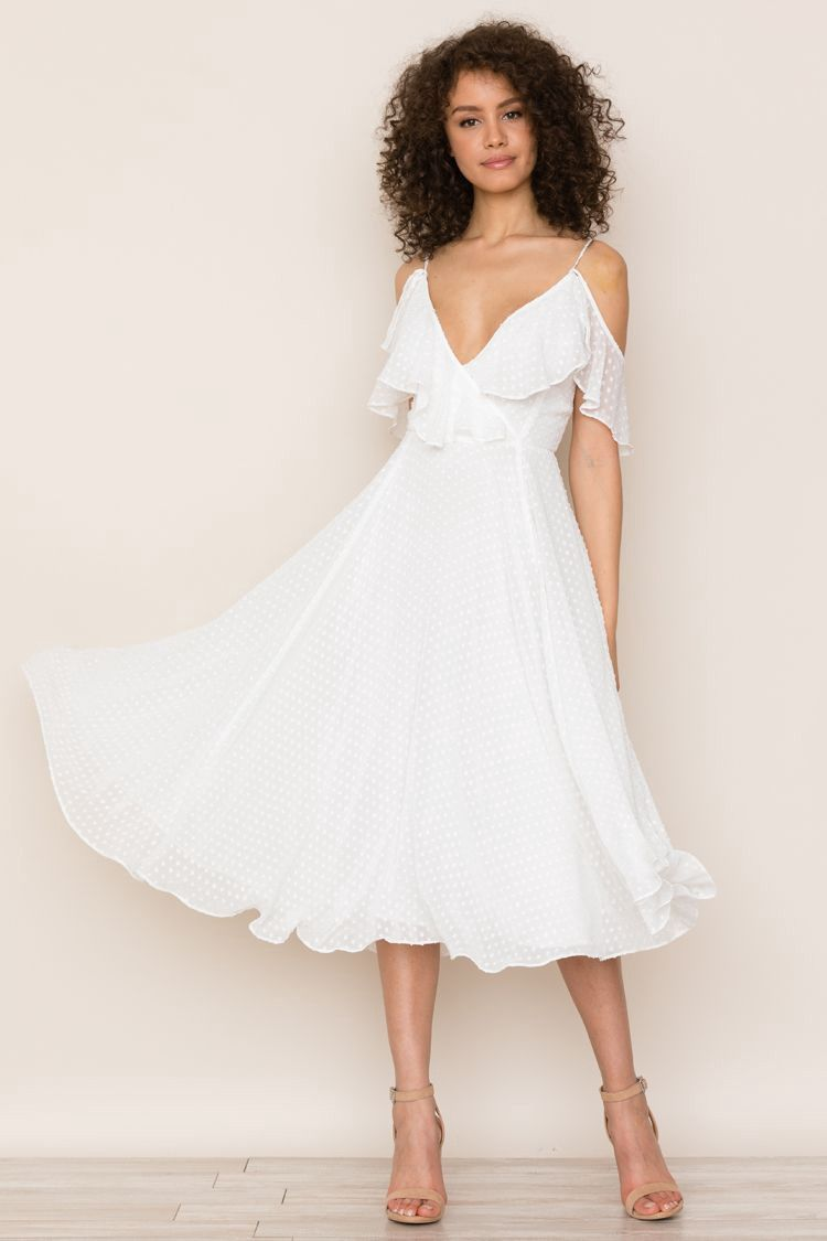 Yumi kim nolita dress swiss dot white xs products pinterest