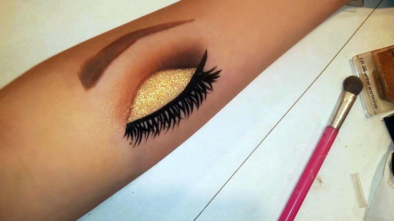 How To Draw Eye Makeup On Your Arm Hand Makeup Eye Makeup On