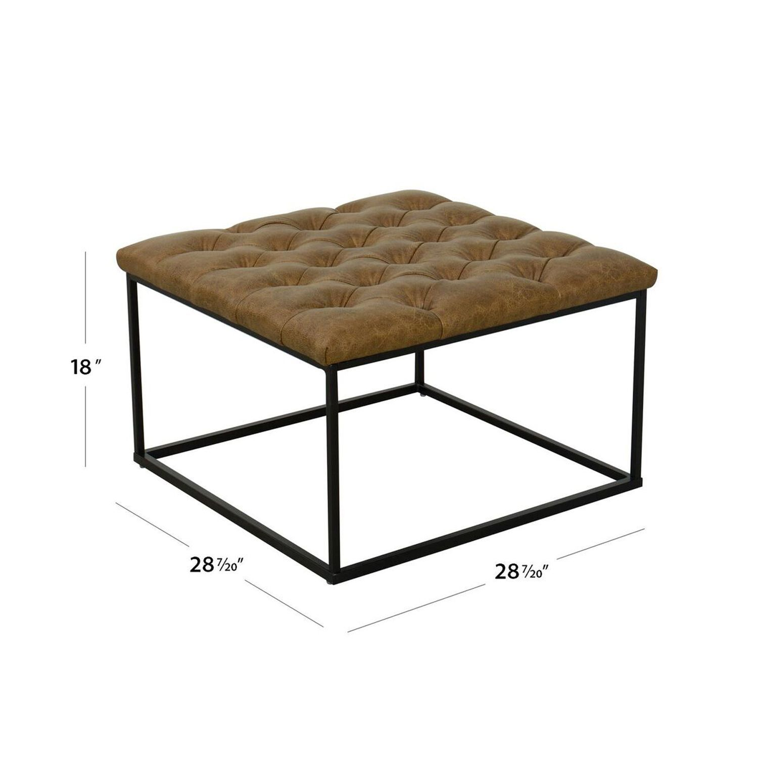 Fabulous Draper Light Brown Ottoman With Button Tufting In 2019 Ibusinesslaw Wood Chair Design Ideas Ibusinesslaworg