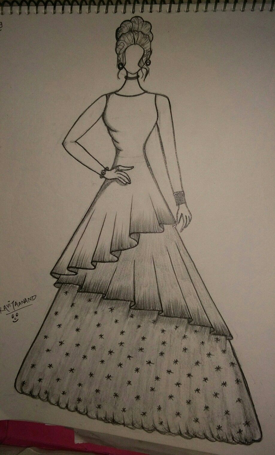 Pin By Ayat Shbair On Made By The Kkavita Anand Fashion Design Drawings Fashion Drawing Sketches Dress Design Drawing