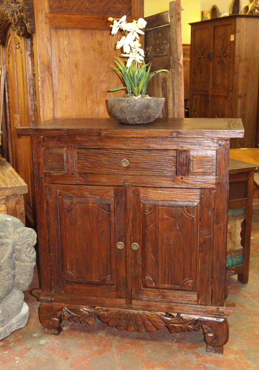 Rustic Console Cabinet