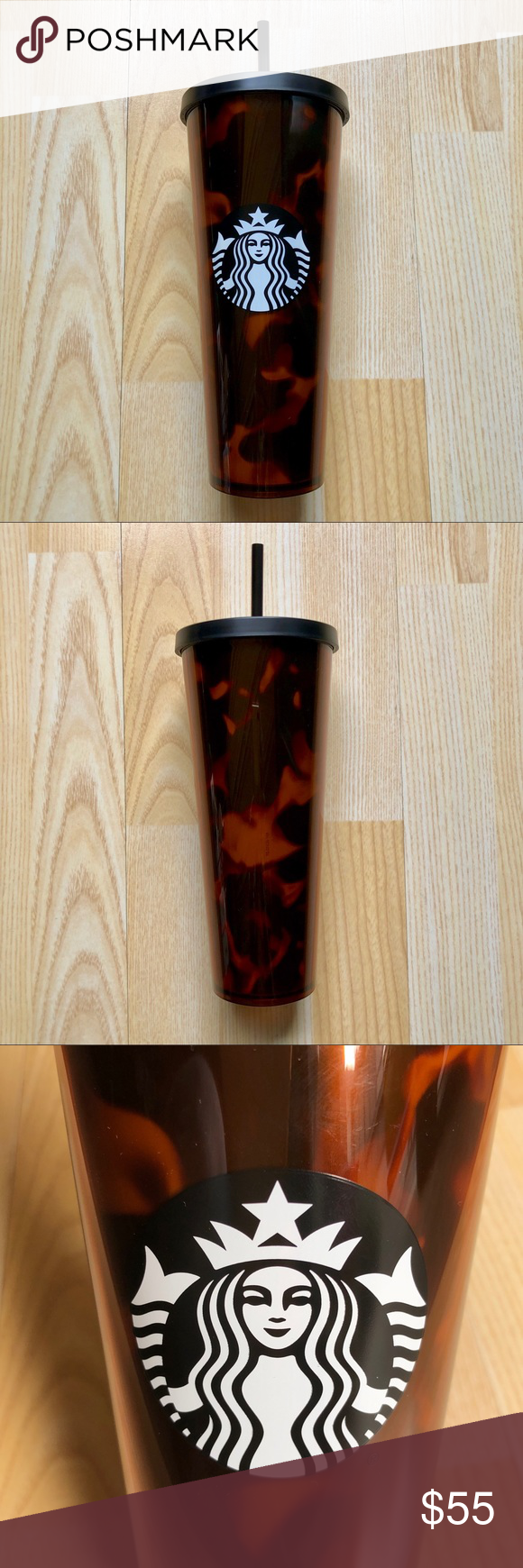 Starbucks 2019 Mocha Swirl Acrylic Cold Cup Tumbler Venti size 24 oz