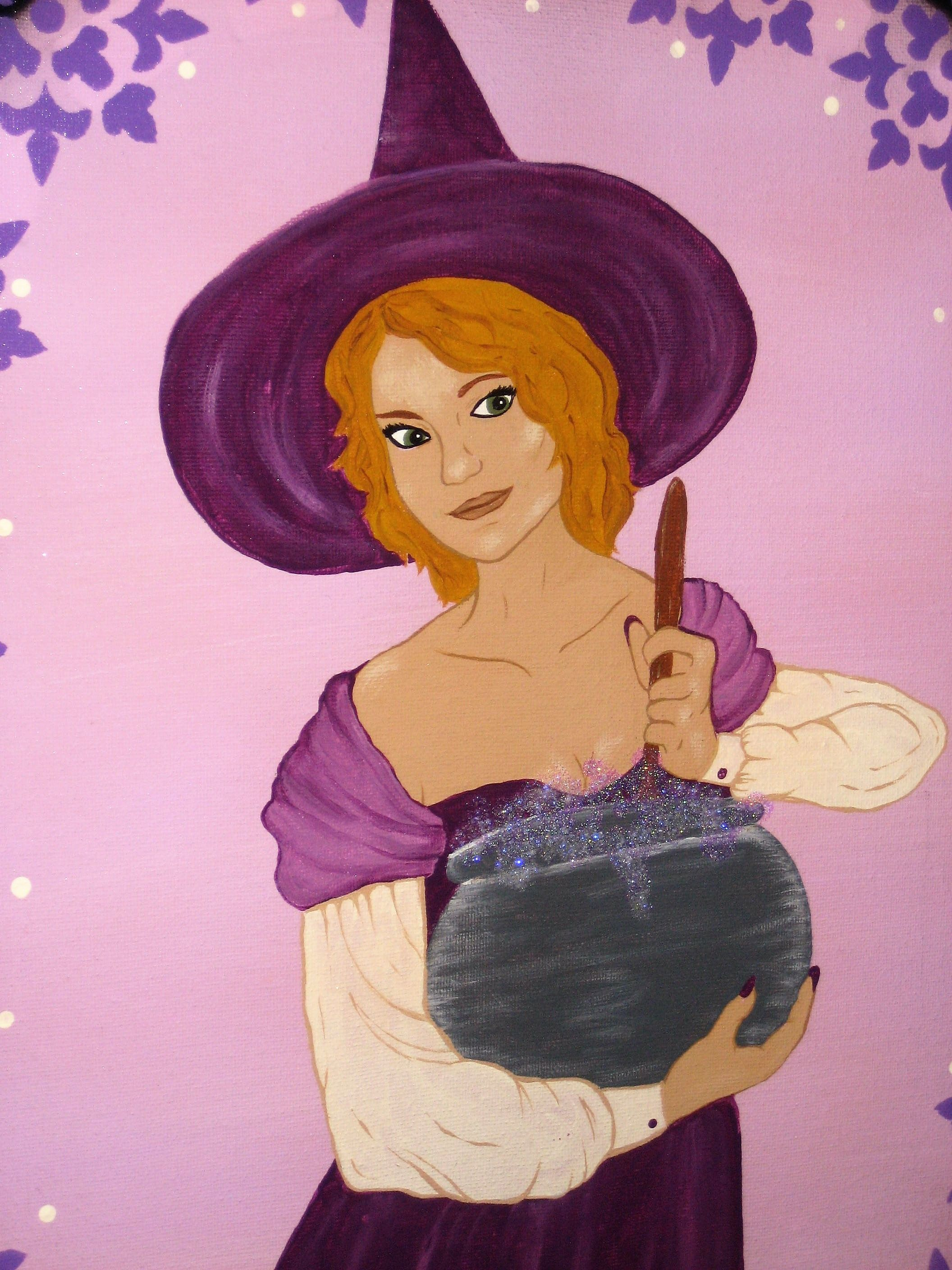 kim s kitchen witch by autumn my own witchy wiccan art