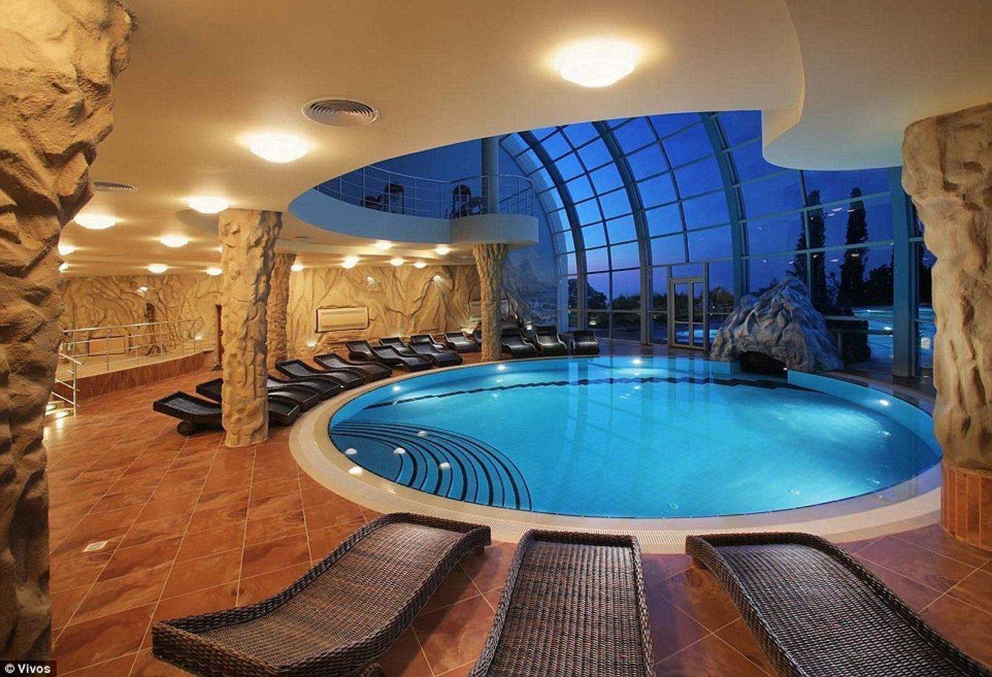 A community pool inside the Vivos Europa One shelter. | Technologie ...