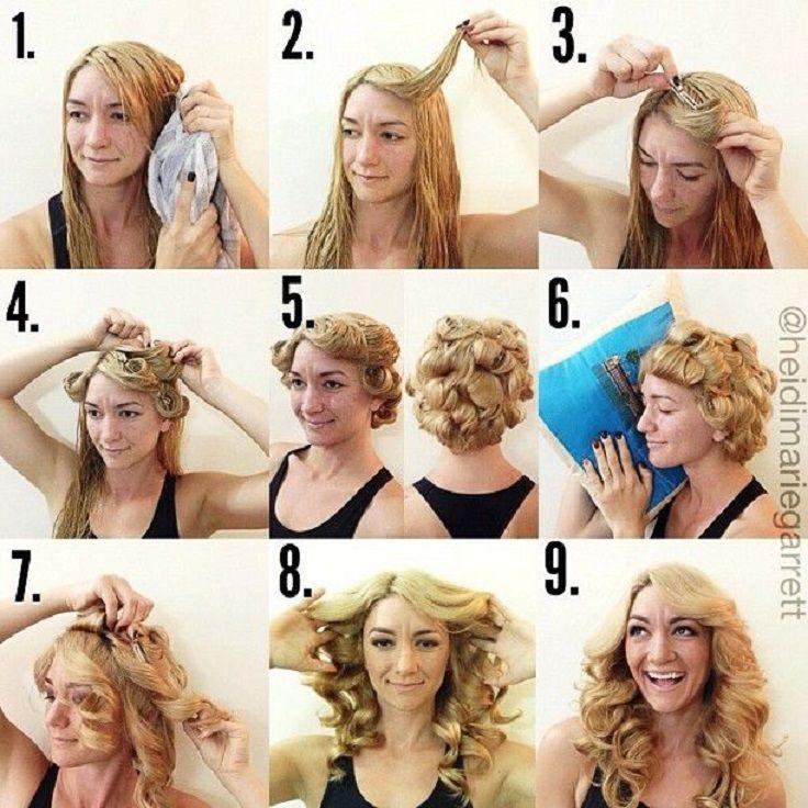 10 DIY No Heat Curls TUTORIALS Easy Curly HairstylesHeatless HairstylesDisco HairstylesSleep