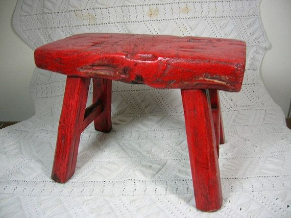 Vintage or Antique Chinese Peasant Foot Stool by CircaMundiVintage $30.00 : chinese stools wood - islam-shia.org