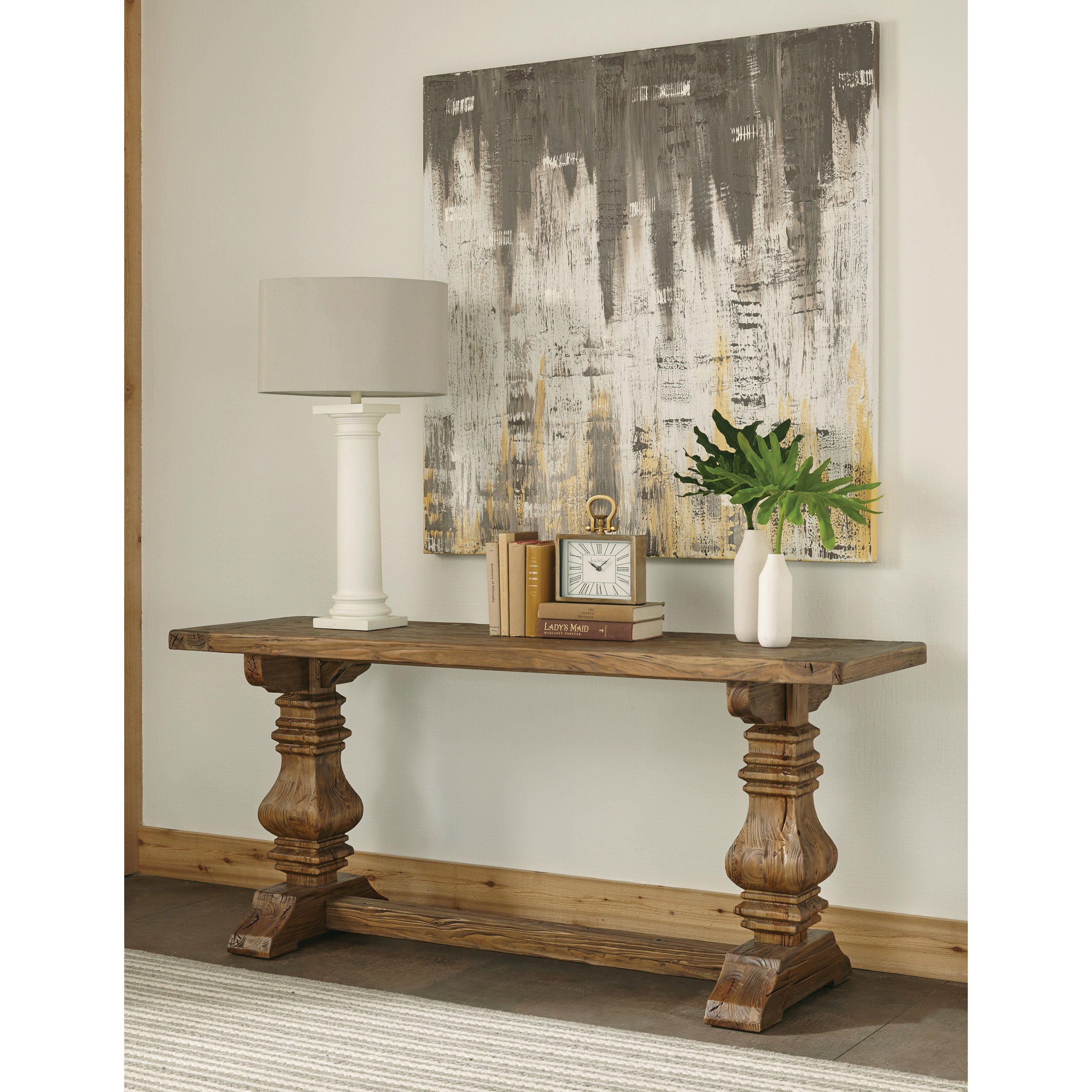 Riverside furniture hawthorne console table shabby chic