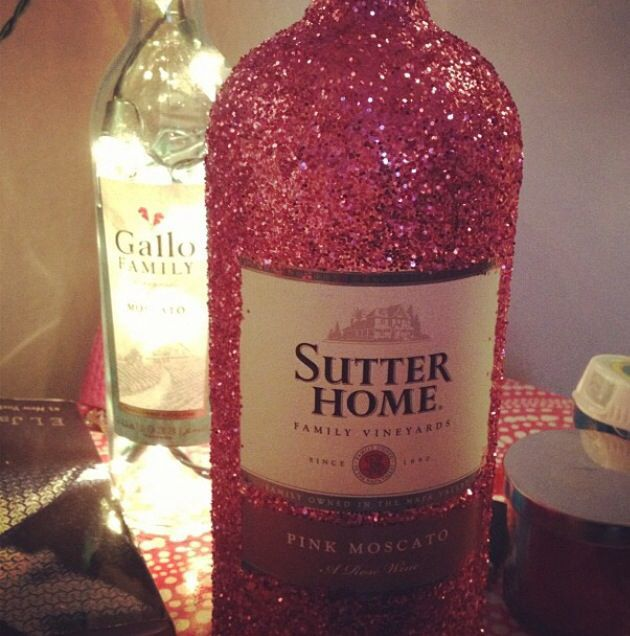 Decorating Wine Bottles With Glitter Pintaylor Michelle On ♥ Be Creative♥  Pinterest  Creative