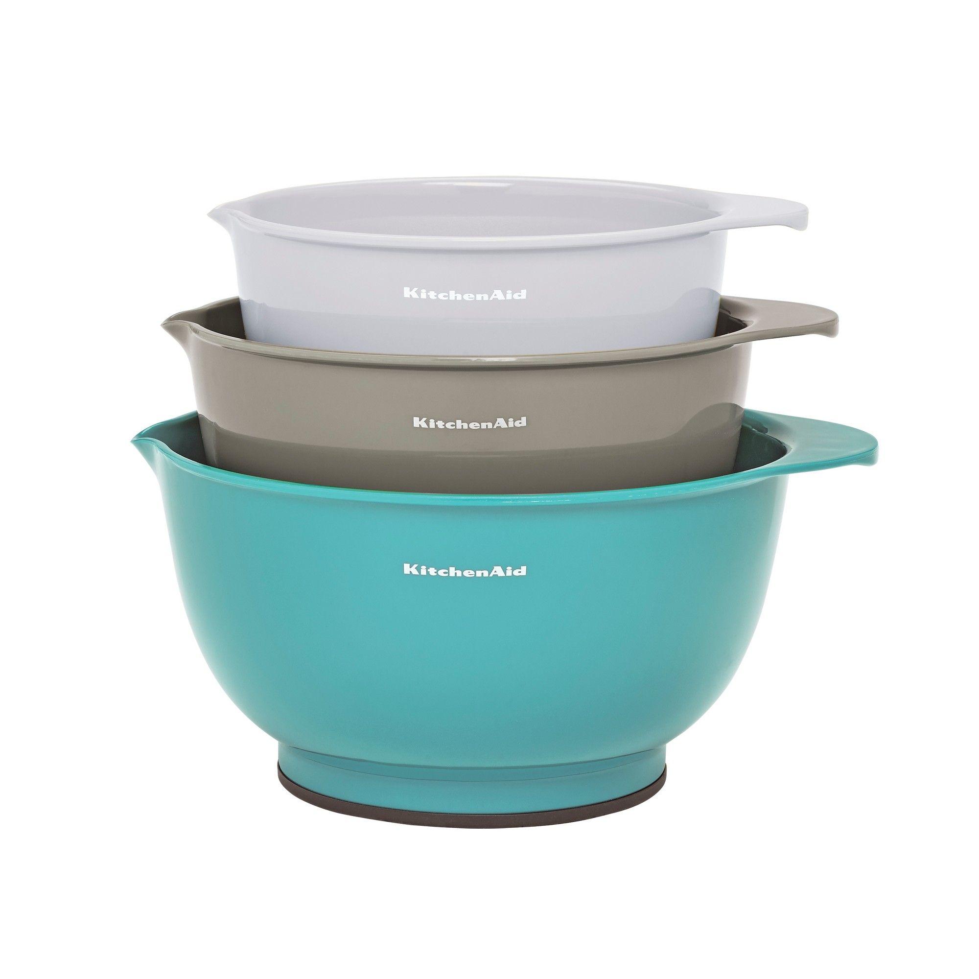 Kitchenaid 3pk mixing bowls blue mixing bowls mixing