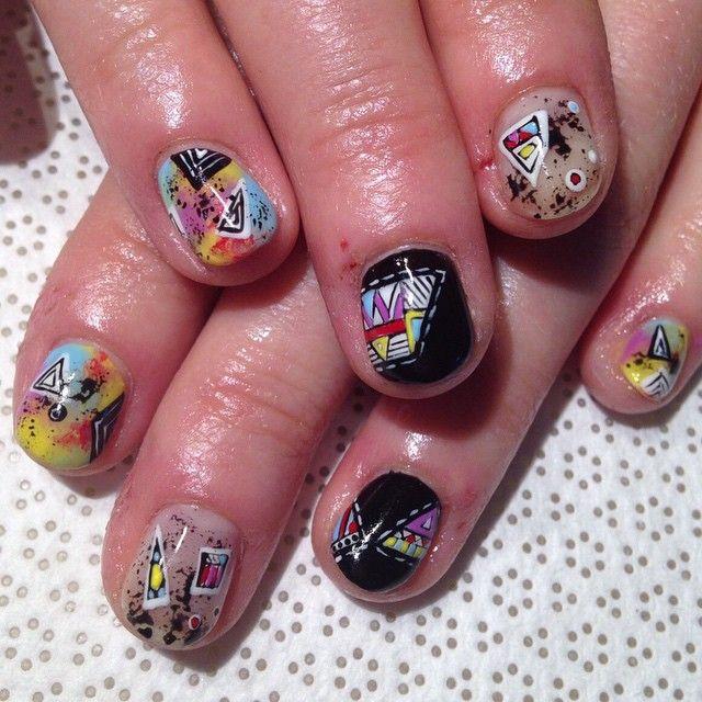 @macokwsk #Maco #handpainted #gelnail #nailart #Vanityprojects