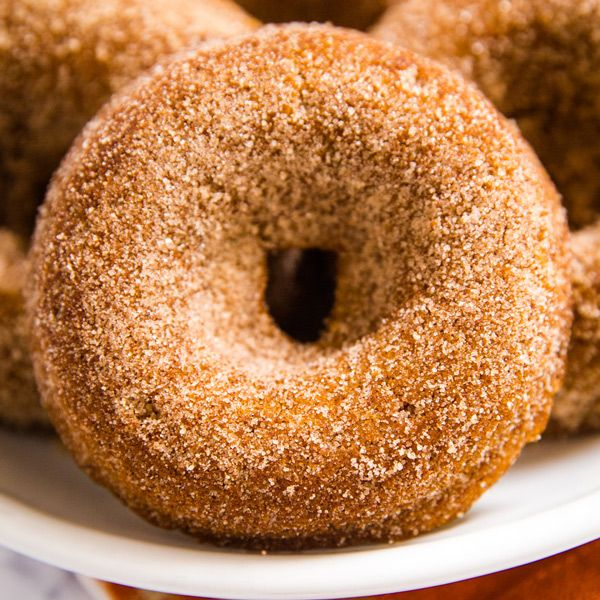 you've got to make this baked pumpkin donut recipe they