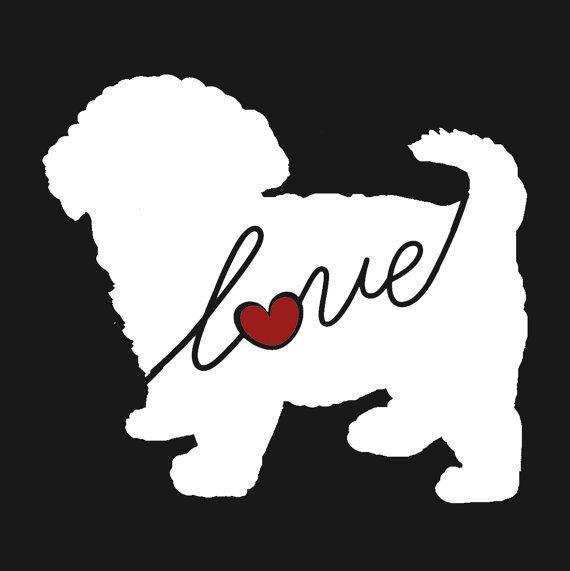 Maltipoo Love Maltese Poodle Car Window Vinyl Decal