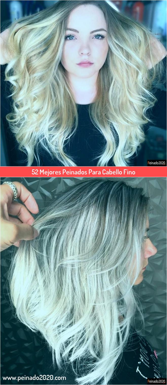 Lluvia de ideas peinados para pelo fino y escaso Imagen de estilo de color de pelo - 52 Mejores Peinados Para Cabello Fino em 2020