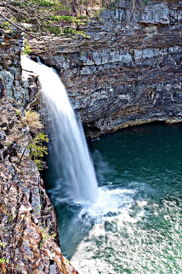 DeSoto Falls is one of the 10 Amazing Waterfalls that are hiding in Alabama. The others can also be found here.