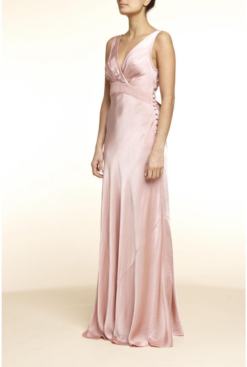 Meron bridesmaid dress - Monique Satin Gown , Designer Dye To Order ...