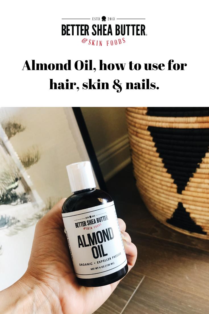 Organic Almond Oil Almond oil, Organic oil, Almond oil hair