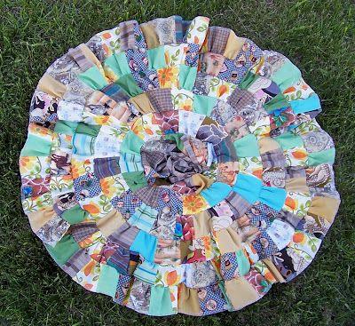 patchwork circle skirt