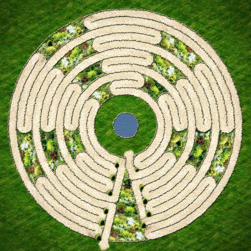 Labyrinth Garden Designs Labyrinth Garden Ideas Garden Labyrinth Labyrinth Garden Spiral Garden Garden Design