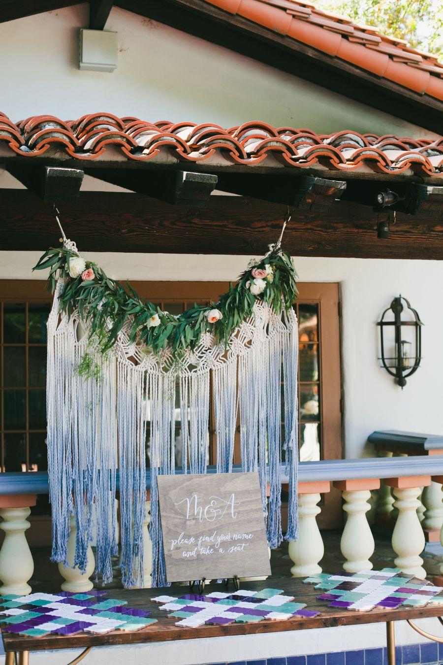 Photography: onelove photography - onelove-photo.com   Read More on SMP: http://www.stylemepretty.com/california-weddings/2016/11/30/blue-bohemian-summer-california-wedding/