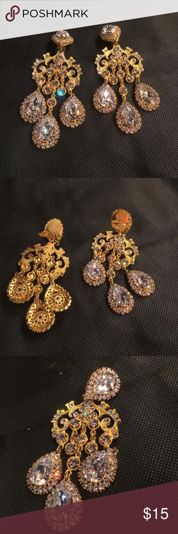 Shoulder duster earrings High quality stone chandelier earrings, very eye catching 😳 no brand Jewelry Earrings