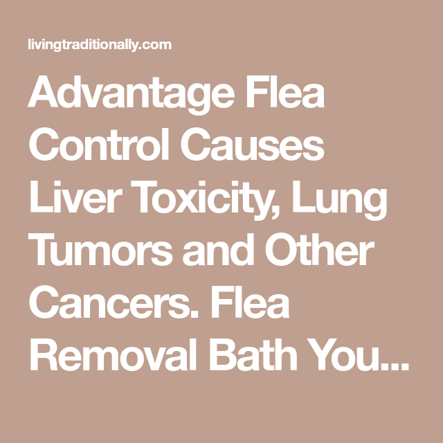 advantage flea control causes liver toxicity lung tumors and other cancers flea removal bath