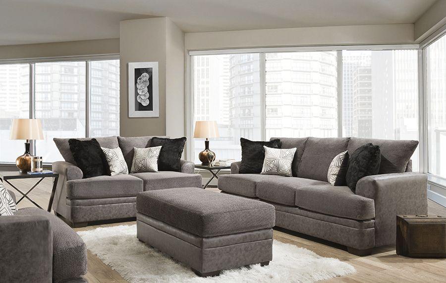 American Furniture Akan Graphite Sofa Loveseat Furniture